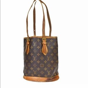 Louis Vuitton Bucket PM Monogram Purse Authentic